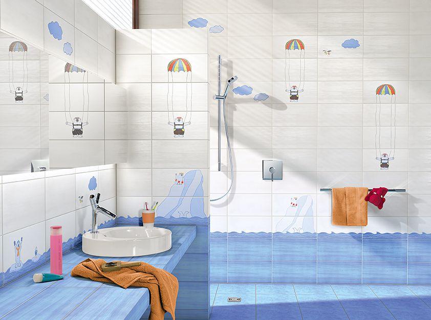Плитка для ванной - морская волна