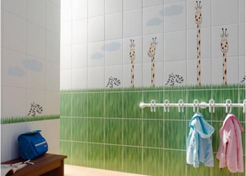 Плитка в ванную с жирафами